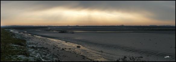 La baie d'Authie aux aurores