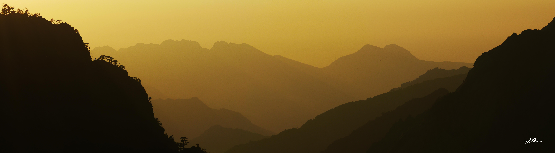 Soleil couchant depuis Carrozzu