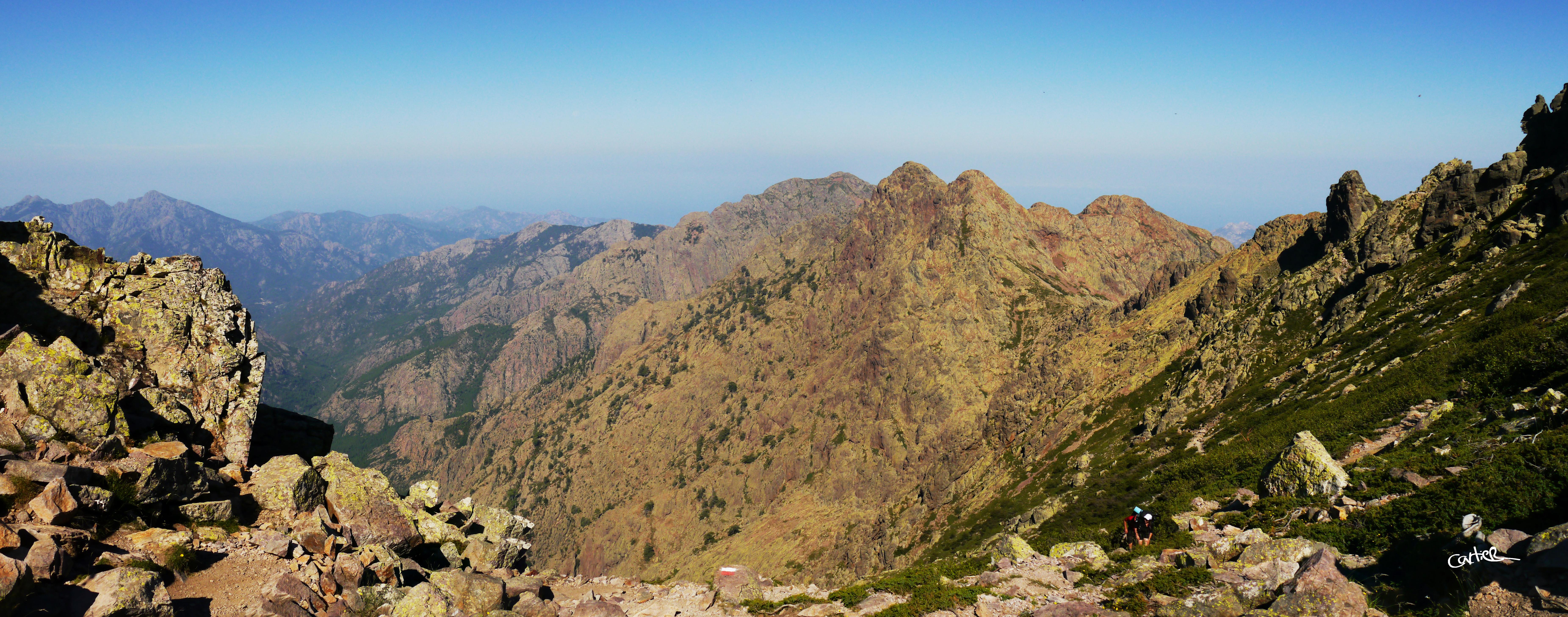 Panorama en haut du Col
