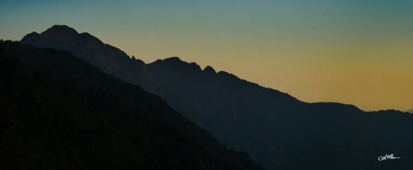 Coucher de Soleil depuis le Bivouac Ortu Di U Piobbu